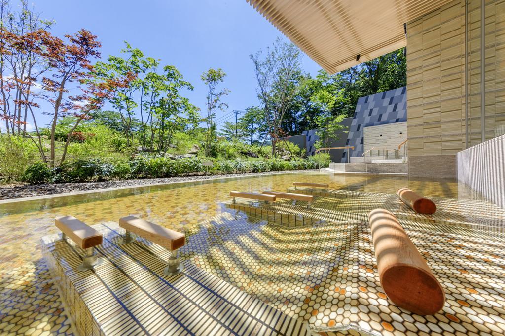 箱根溫泉花織飯店棚湯庭園風景側