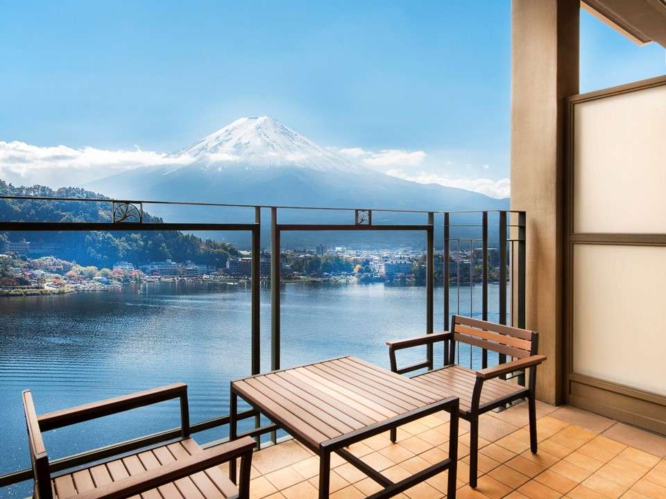 河口湖KUKUNA飯店中央館和洋室風景