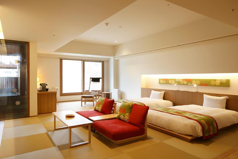 登別馬可波羅飯店高級和洋室附露天風呂「槐」