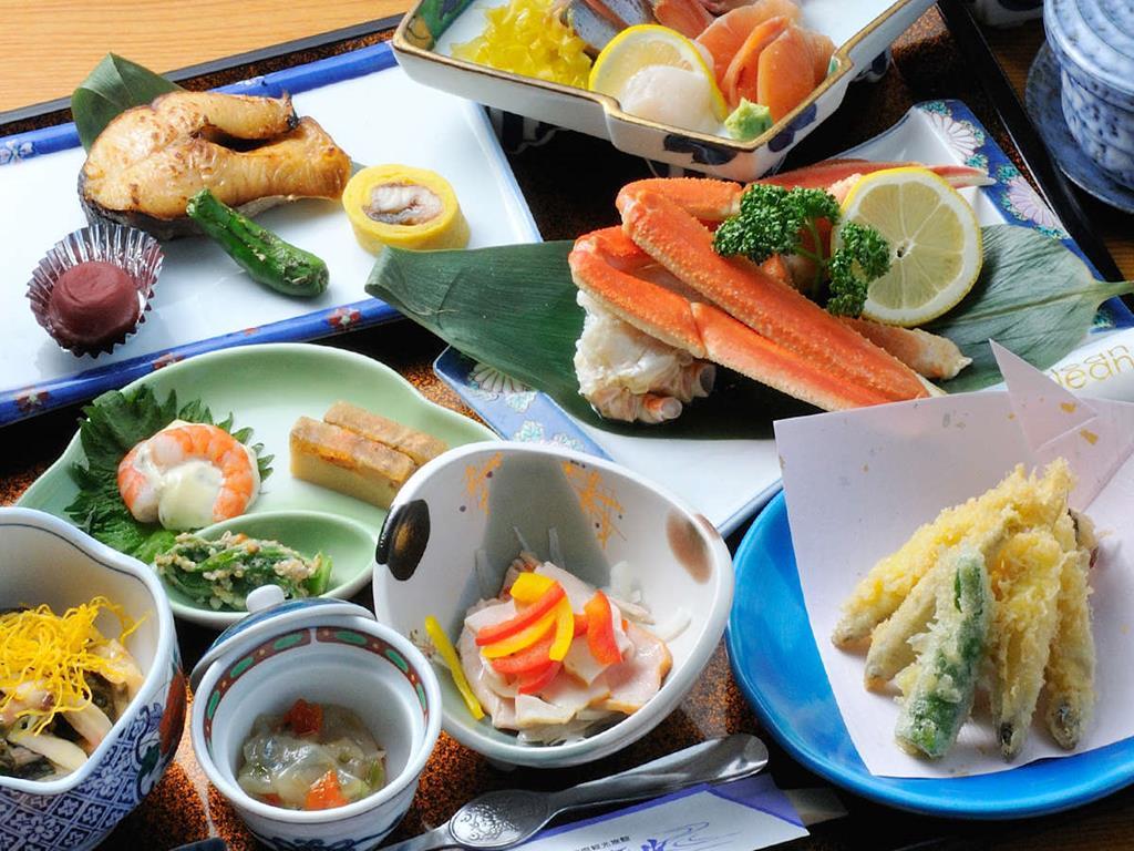 洞爺湖北海飯店晚餐料理
