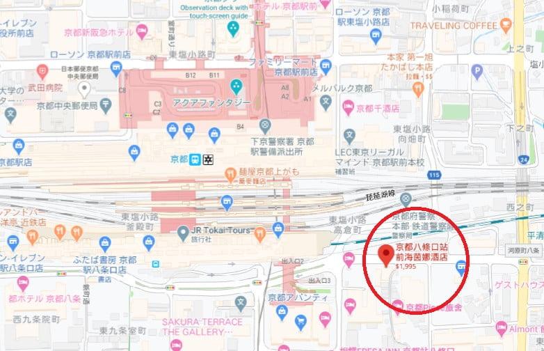 京都飯店海茵娜位置