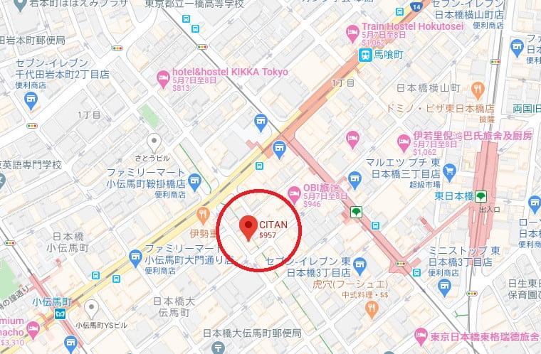 東日本橋CITAN位置