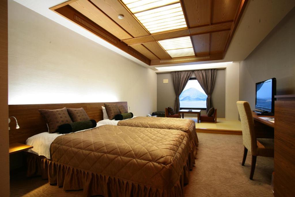 洞爺湖Sun Palace飯店現代風和洋室