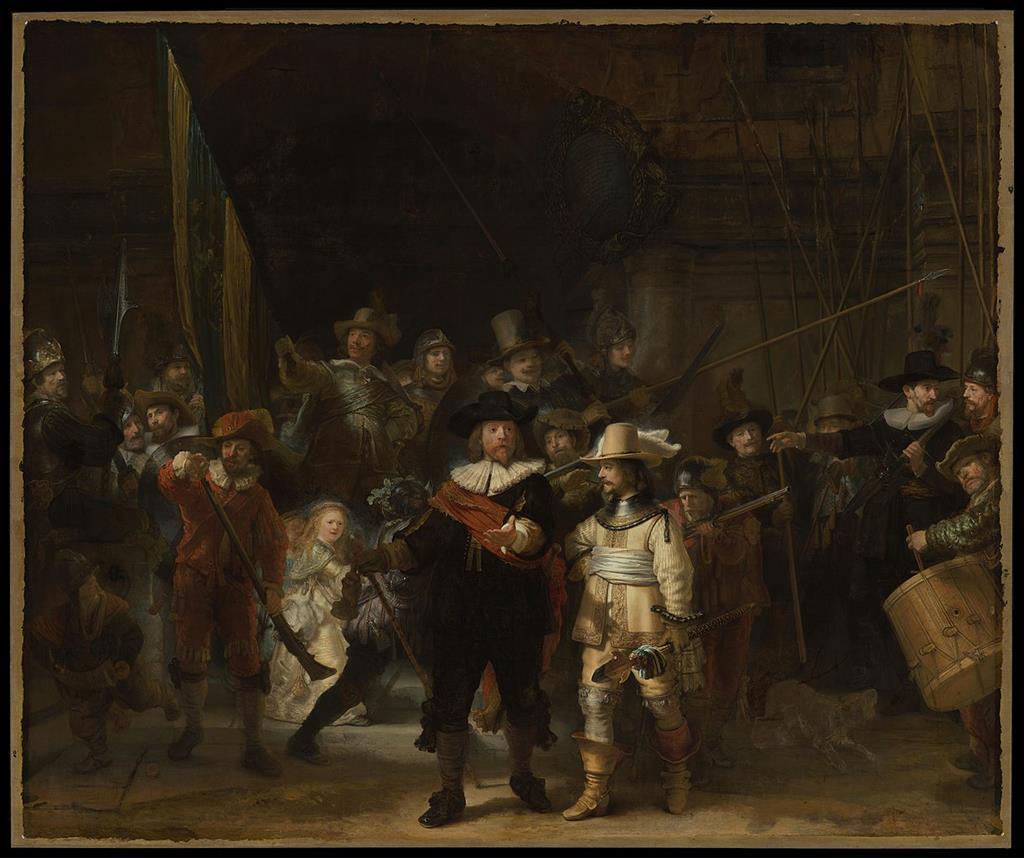 林布蘭- 夜巡(The Night Watch,1642年)