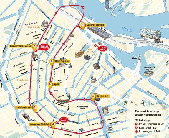 Amsterdam Circle line停靠點