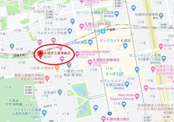 札幌京王廣場飯店位置