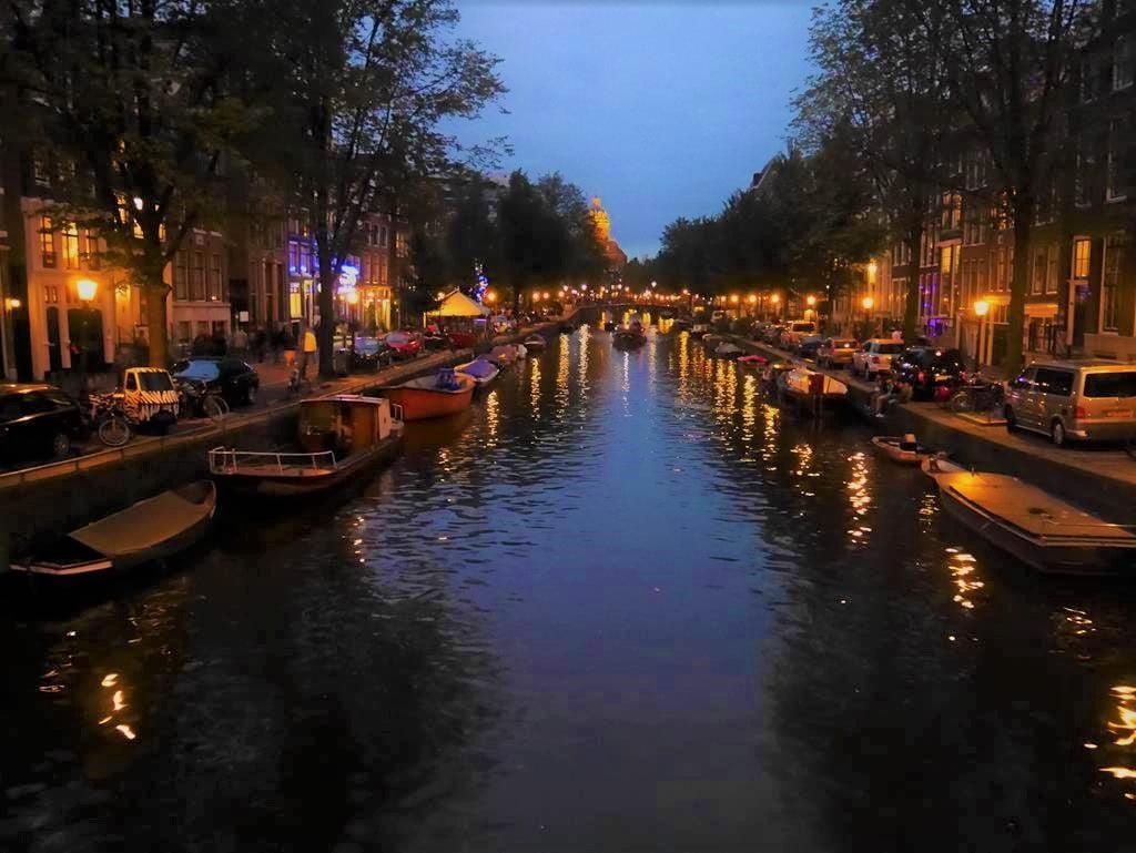 阿姆斯特丹自由行運河夜景
