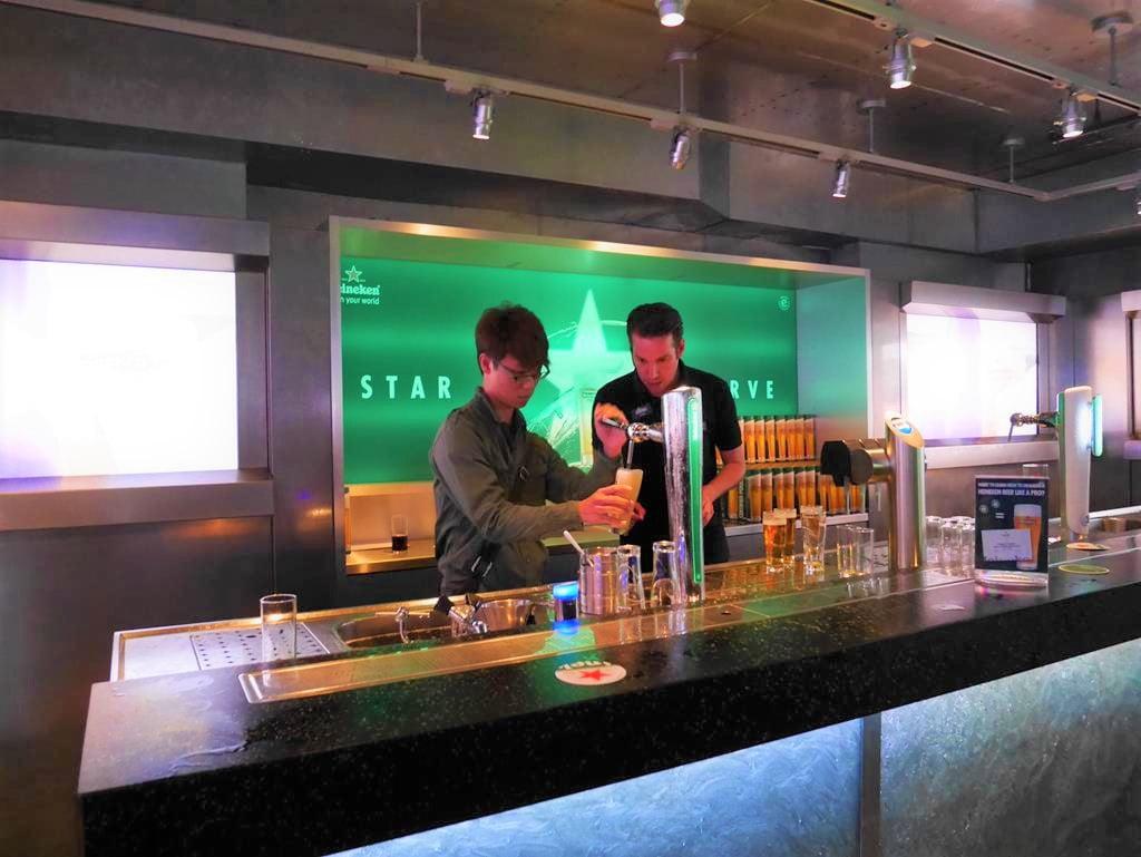 海尼根啤酒博物館Bartender體驗