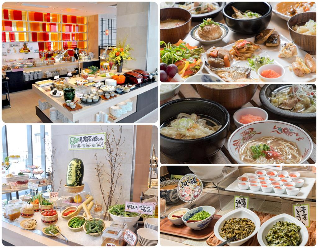 JR九州飯店Blossom博多中央早餐