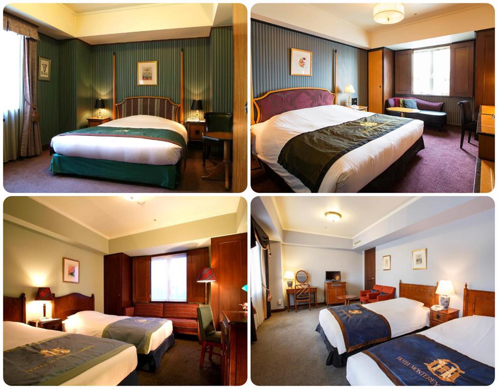 札幌Monterey飯店標準房及高級雙床房(右下)