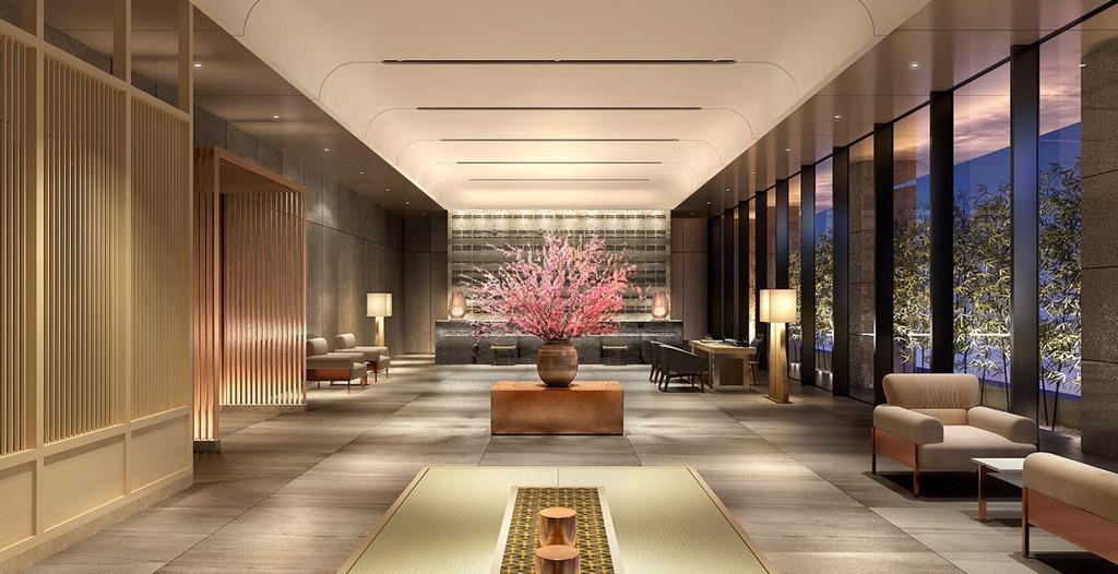 福岡飯店住宿THE BLOSSOM HAKATA Premier大廳