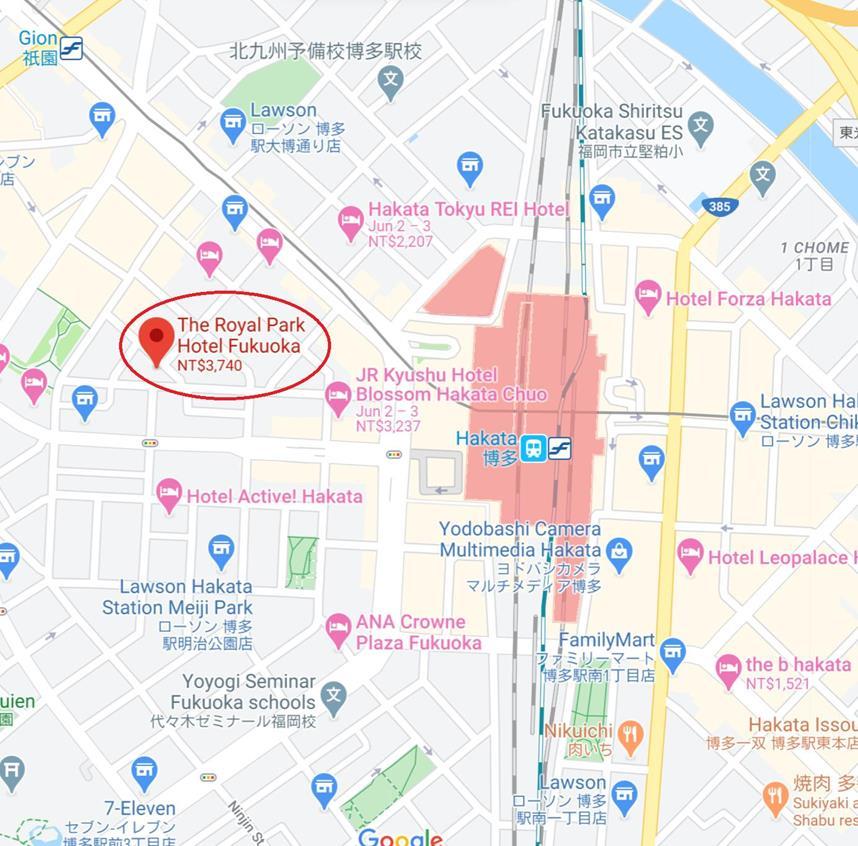 福岡皇家花園飯店位置