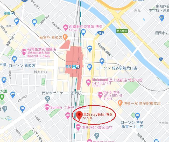 博多東急Stay飯店位置