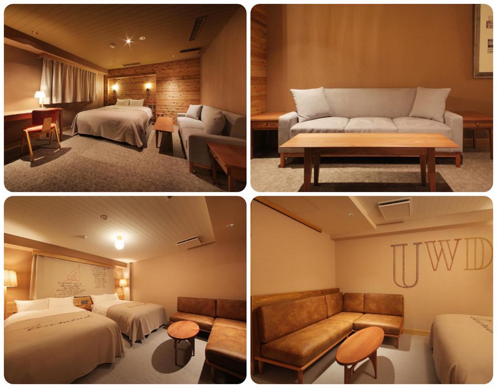 Unwind Hotel雙人床及雙床房