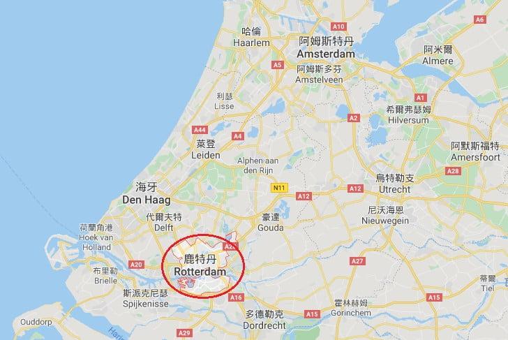 荷蘭鹿特丹位置