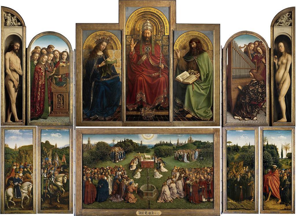 根特祭壇畫神秘羔羊之愛(1432)