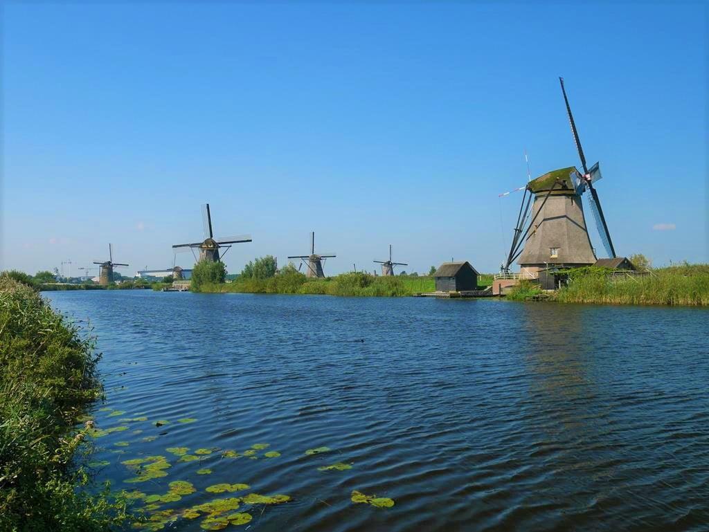 荷蘭小孩堤防風車