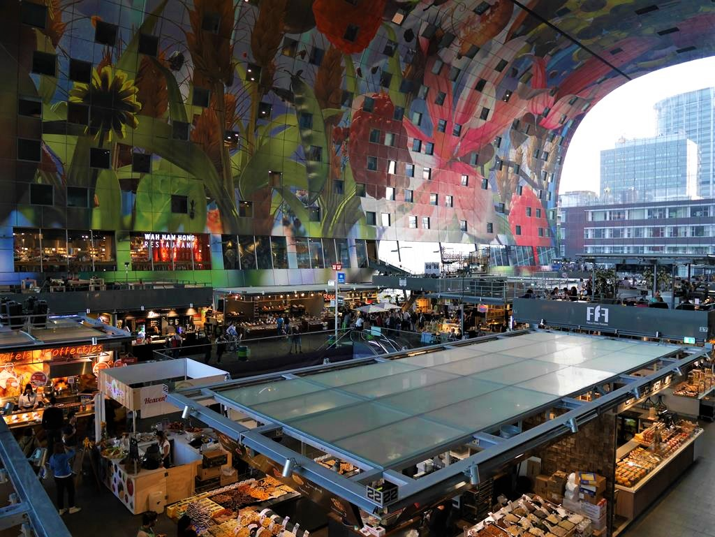 鹿特丹Markthal市場空景