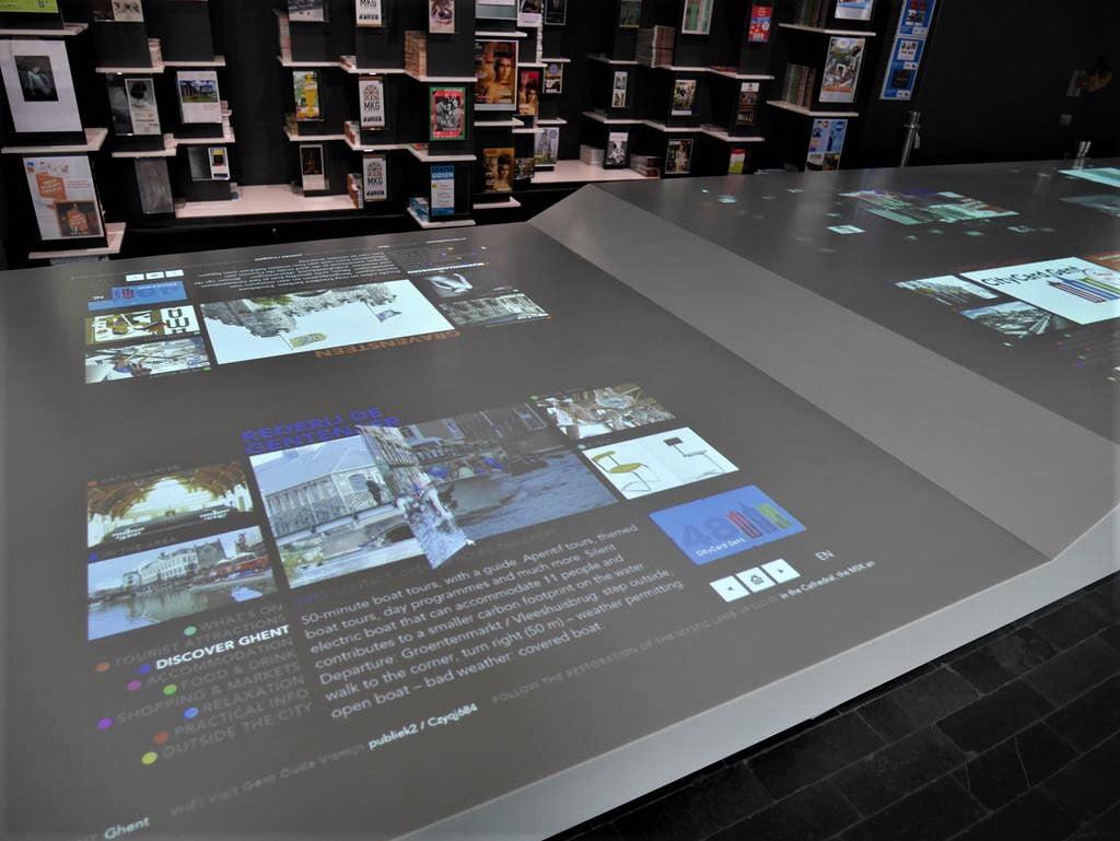 根特遊客中心資訊互動面板