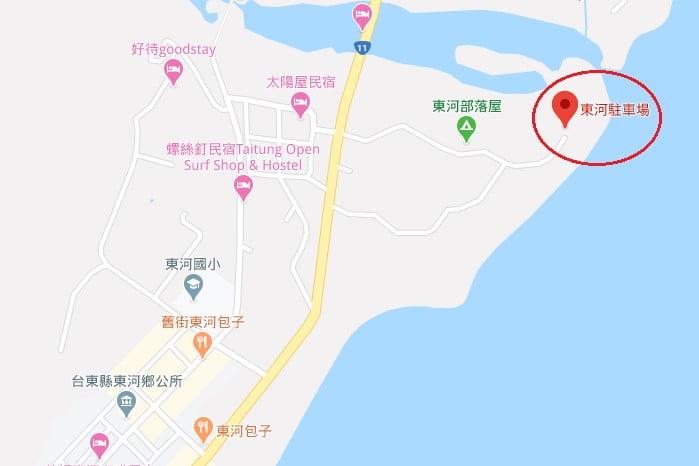 台東私房景點東河秘境沙灘位置
