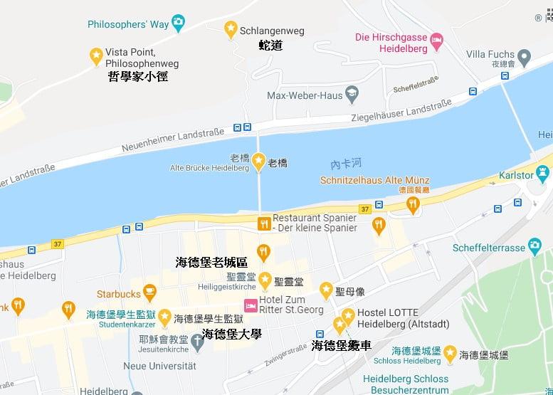 海德堡景點地圖