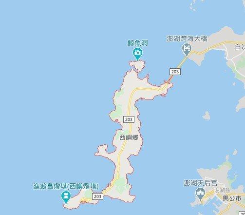 漁翁島西嶼地圖