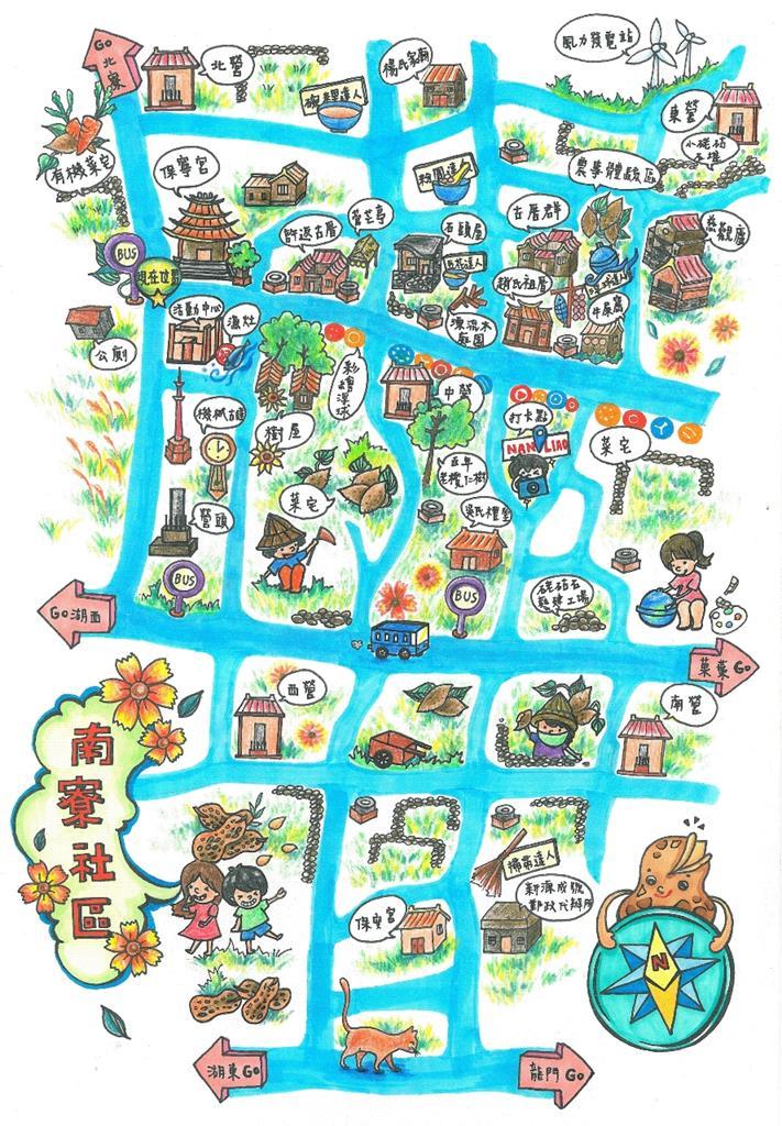 澎湖南寮社區地圖