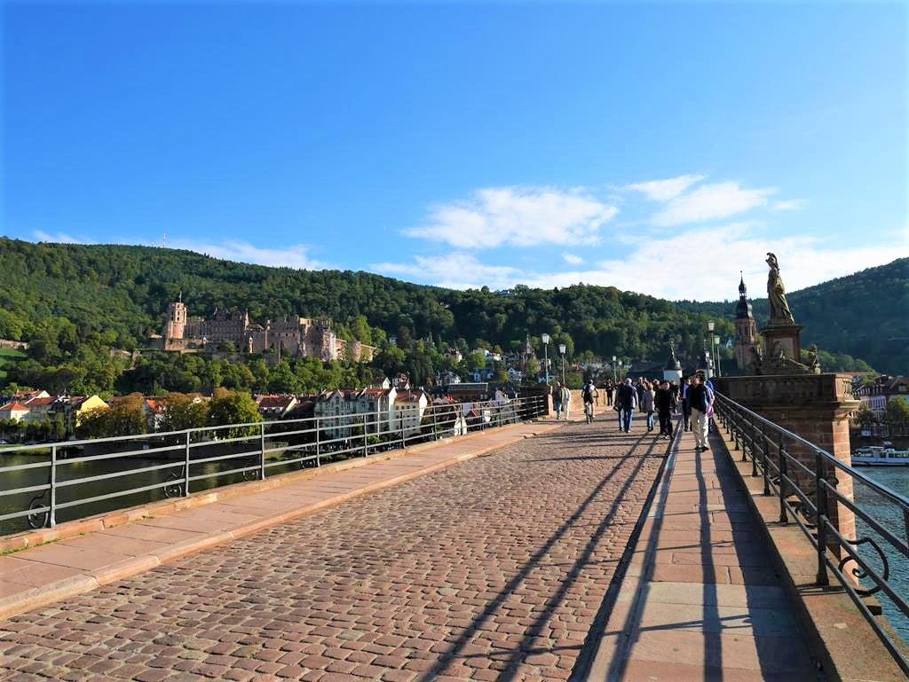 海德堡老橋上風景