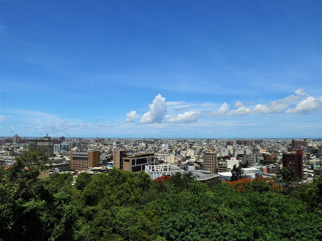 八卦山眺望彰化市區景色