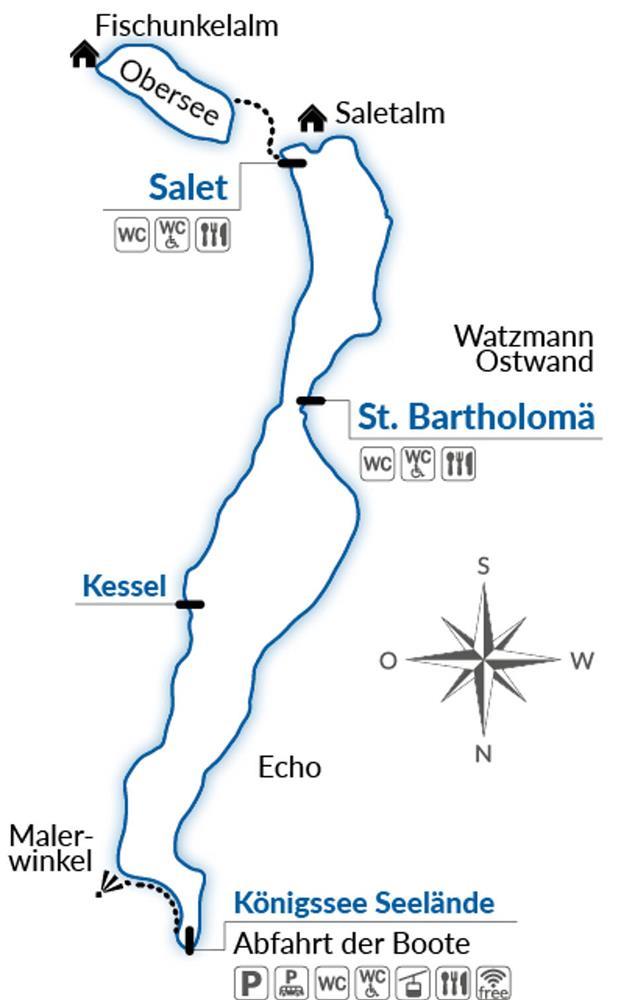 國王湖自由行地圖