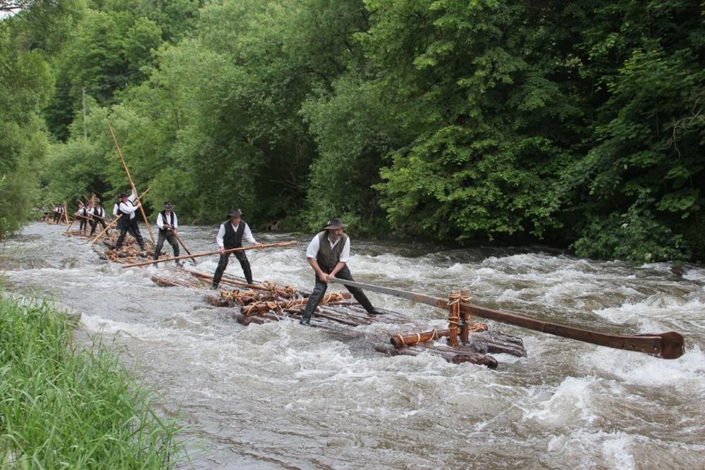 德國黑森林席爾塔木筏工人