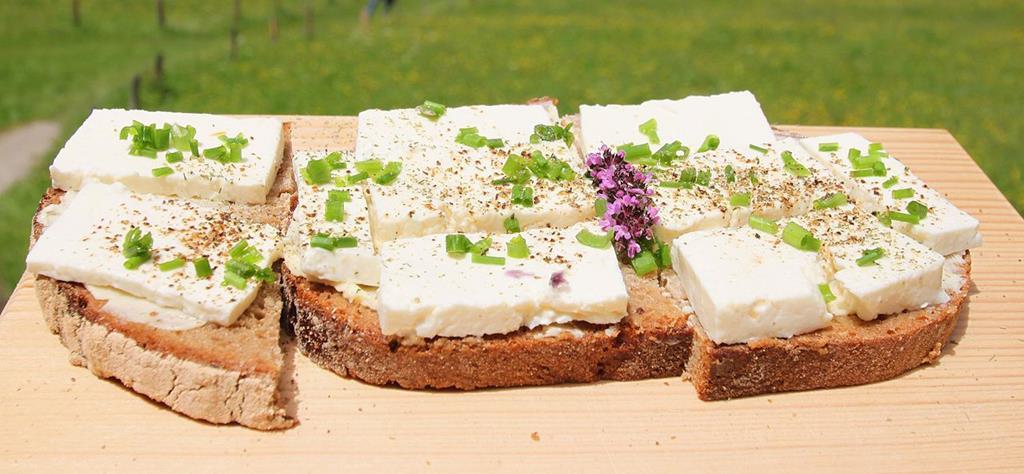 Fischunkelalm販售的輕食麵包、起司