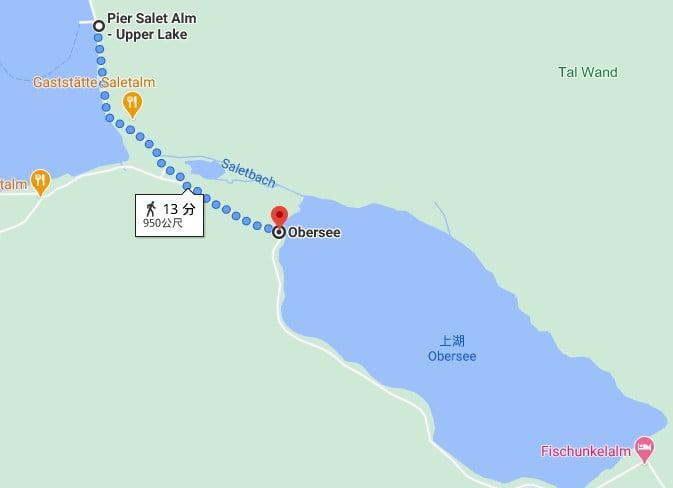 Salet碼頭到上湖路線