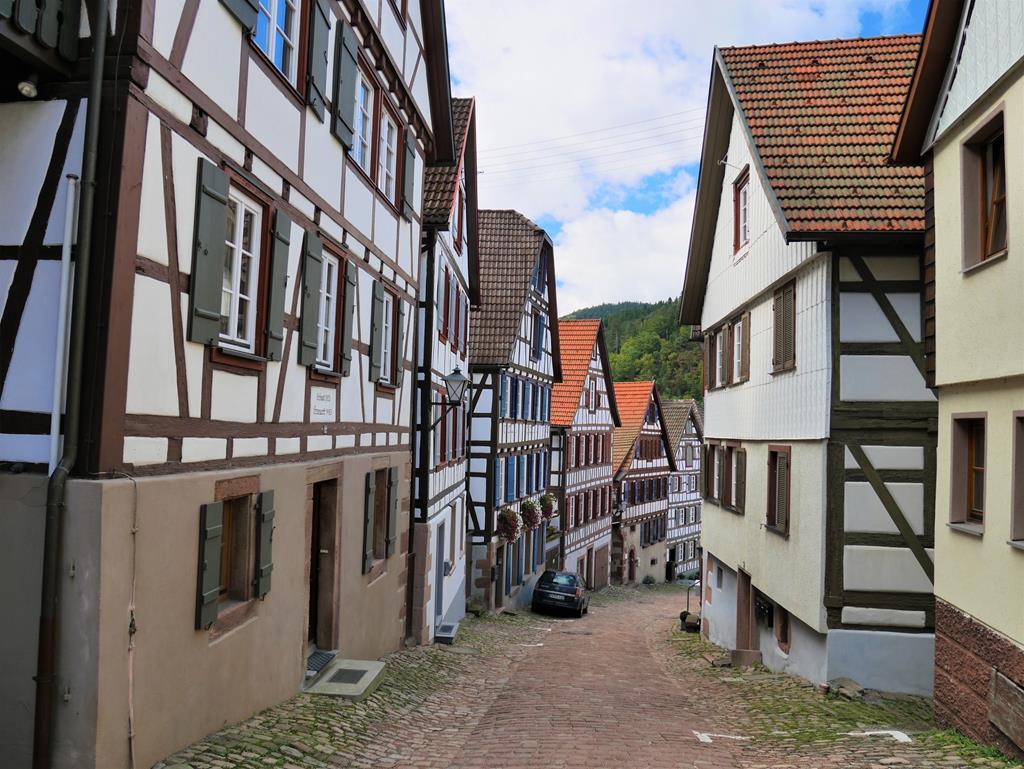 德國黑森林席爾塔半木桁架建築