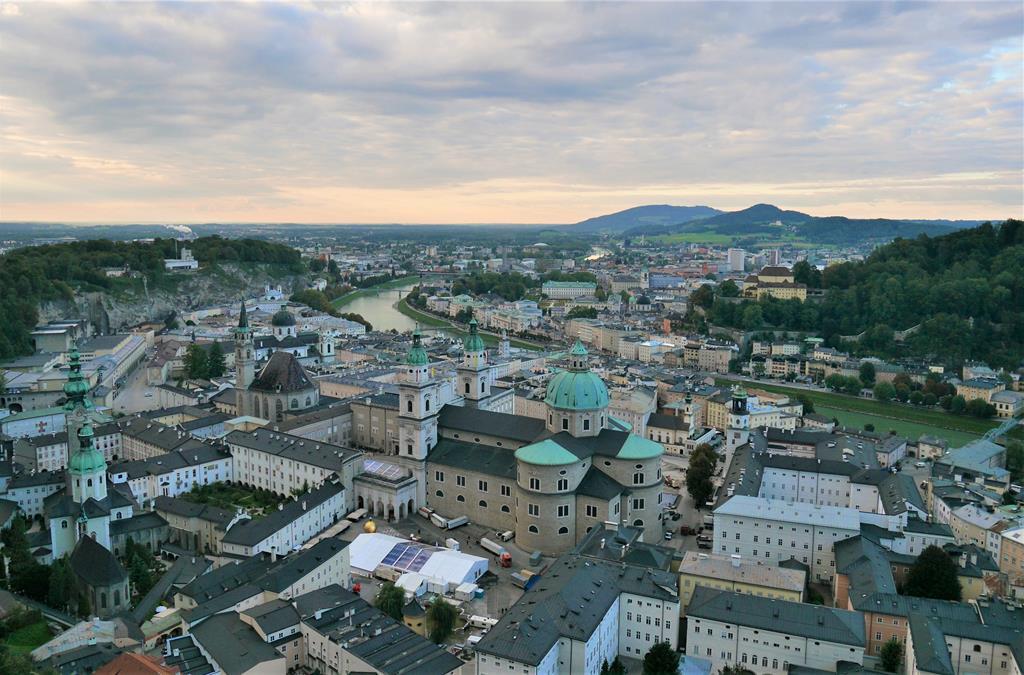 薩爾斯堡老城區眺望景色