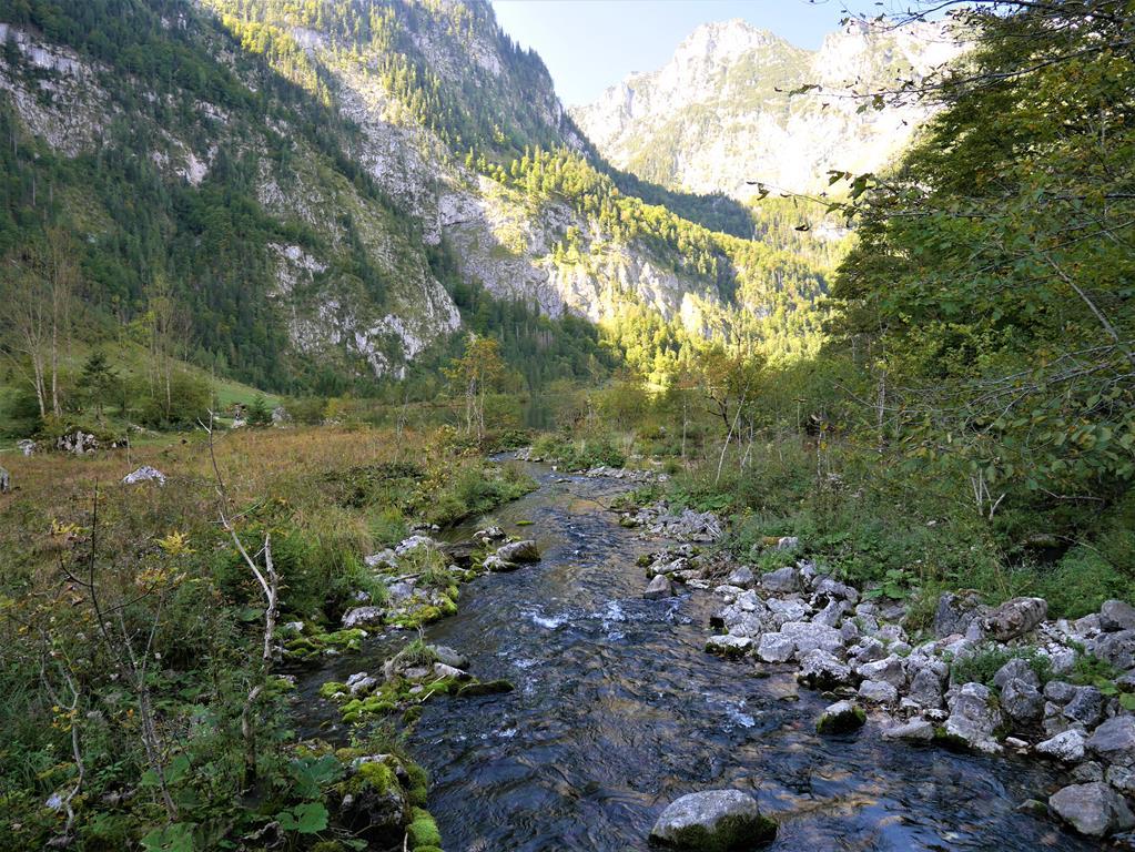 連接上湖及國王湖的Saletbach水道