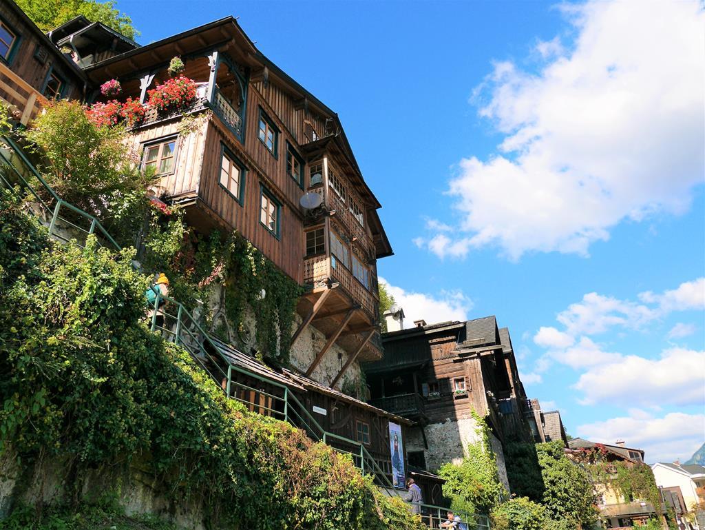 哈爾施塔特沿山壁建築