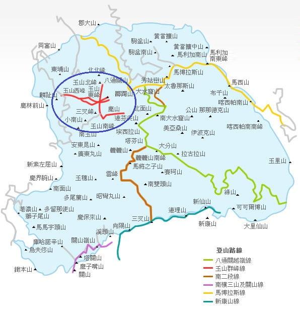 玉山位置地圖