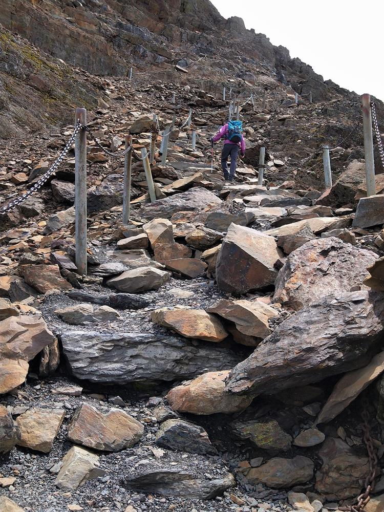 玉山主峰最後攀爬路線