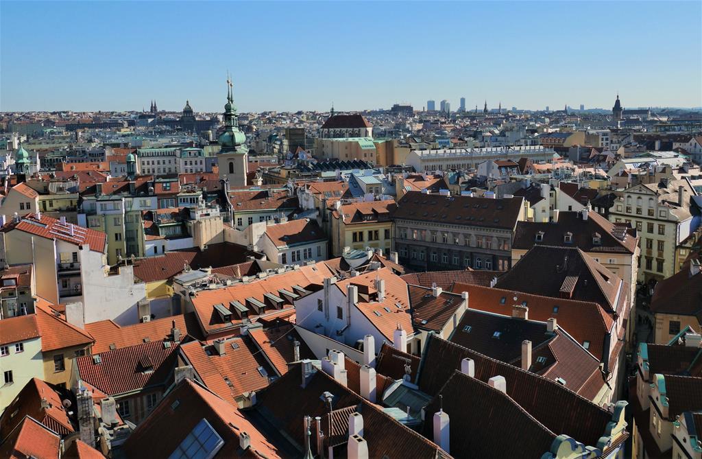 布拉格舊市政廳高塔上風景