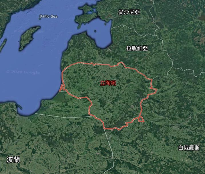 立陶宛與各國相對位置