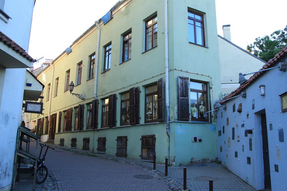 立陶宛自由行文學街一隅