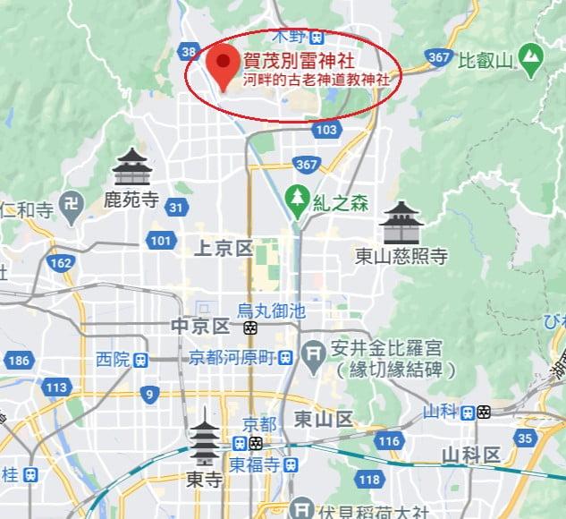 上賀茂神社位置