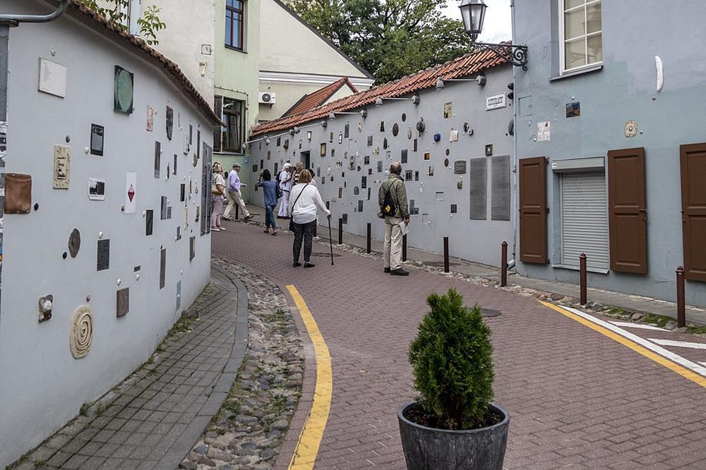 立陶宛自由行文學街一隅文學街