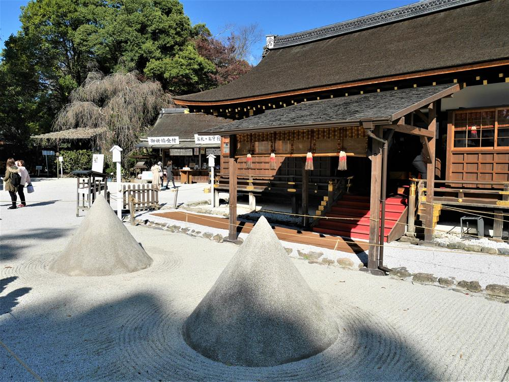 上賀茂神社立砂與細殿