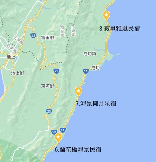 台東海景民宿地圖