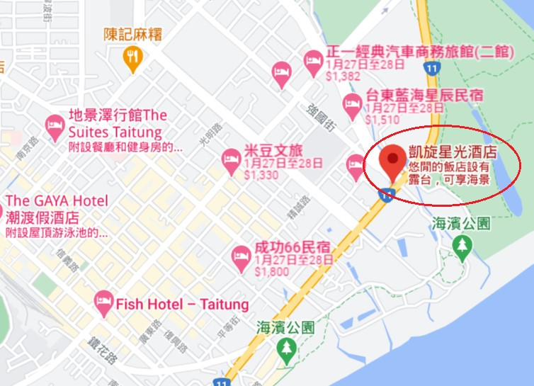 台東凱旋星光酒店位置