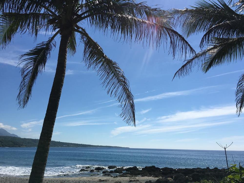 台東椰子海岸民宿前海灘