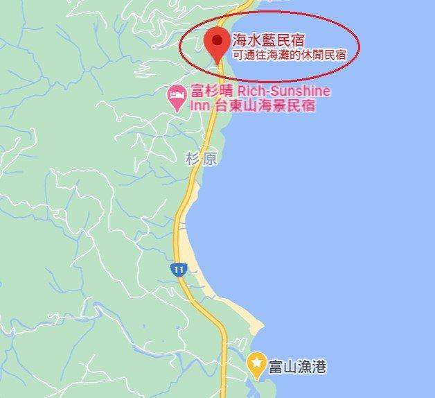 台東海水藍民宿位置