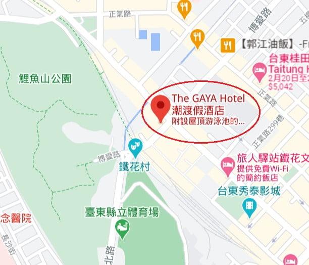 The Gaya Hotel位置